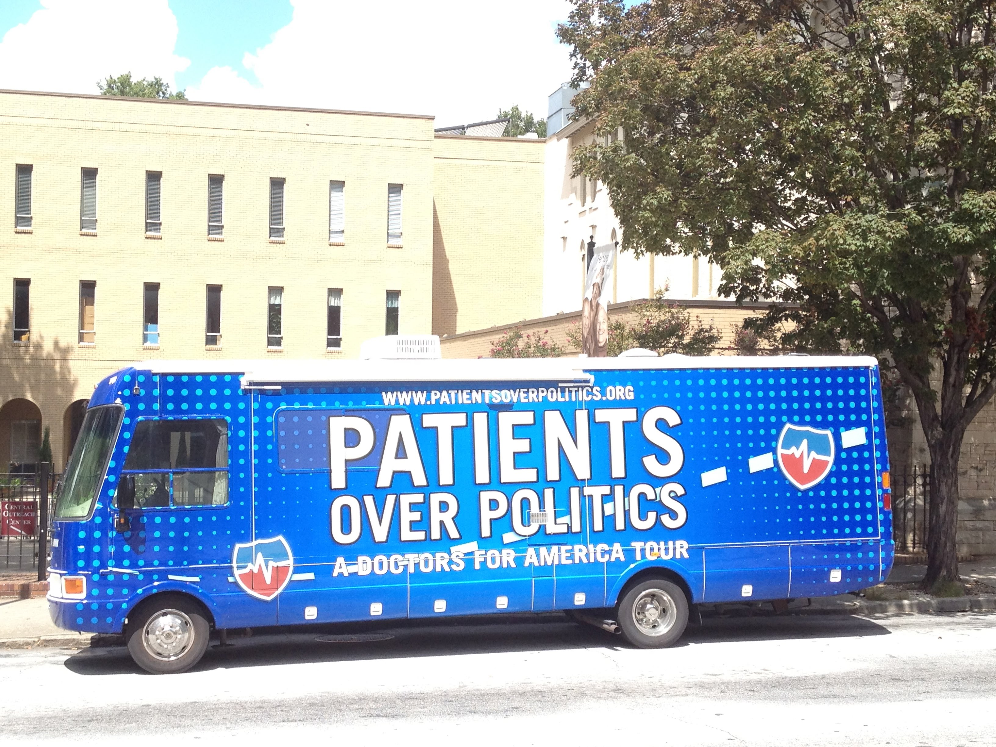 Doctors for America, Patients over Politics Bus Tour 2012